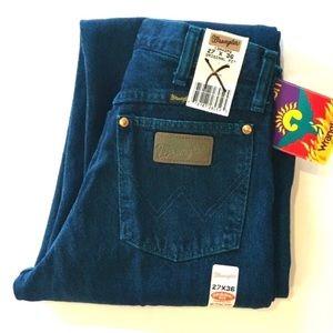 Vtg NWT High Waisted Wrangler Firewash Teal Jeans