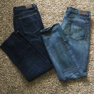 2 Pair - J. Crew Sutton Jeans Men's 33x32