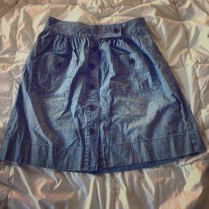 J. Crew denim button up skirt - Size 4
