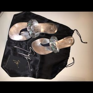 Giuseppe Zanotti Jeweled Flat thong Sandals
