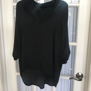 NWOT sheer black tunic