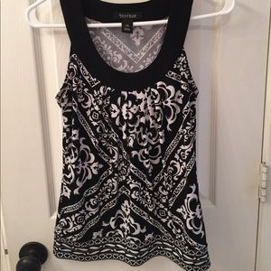 Tank top black and white