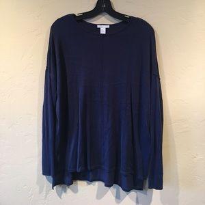 H&M Lightweight Navy Tunic Sweater