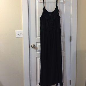 Faded Glory Maxi Black Ruffle Dress Plus Size 3x