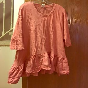 Anthropologie Ruffle T Shirt