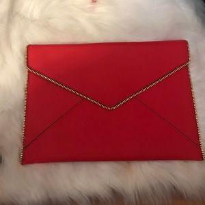 Rebecca Minkoff red envelope clutch