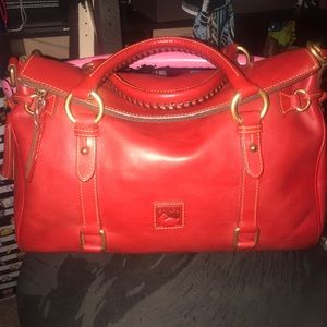 Dooney Red Florentine Medium Satchel