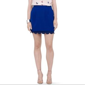 CLUB MONACO Tulip Skirt in Royal Blue | Size 0