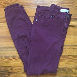 Burgundy Legging Jeans