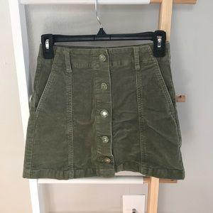 Light Green Corduroy Skirt