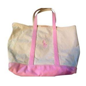 Pink Ralph Lauren Tote