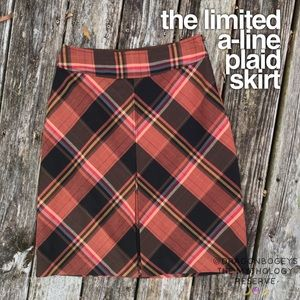 The Limited A-Line Plaid Skirt