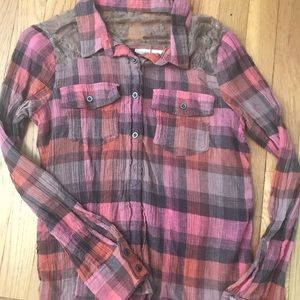 Tops - Plaid Pink Flannel