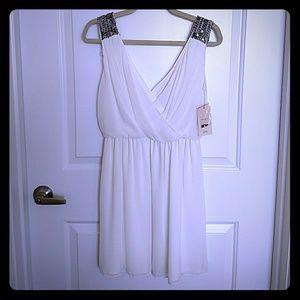 Cream Flirty Zara Dress