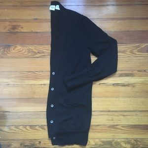 Black cardigan - 100% Merino Wool