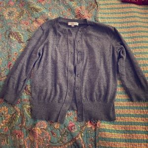 Gray 3/4 sleeve cardigan