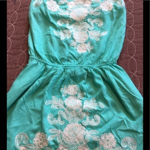 Billabong strapless dress or tunic. Sea foam green