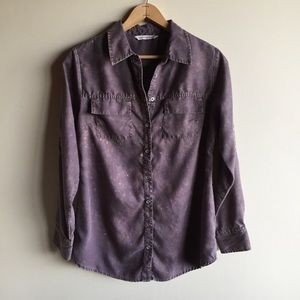 Soft Surroundings mineral wash button down shirt