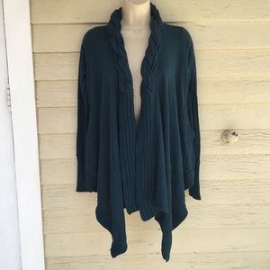 BCBG Teal cardigan sweater/cotton-rayon/NWT/XS/S