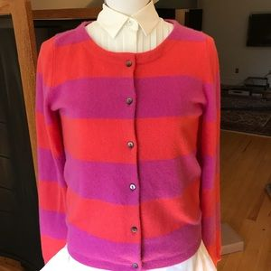 Boden Striped Cashmere Cardigan, EUC