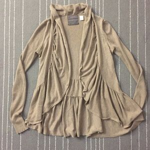 Anthropologie Guinevere hunter ruffles cardigan