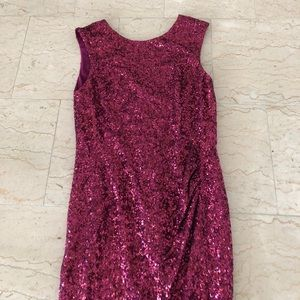 Pink sequin dress!
