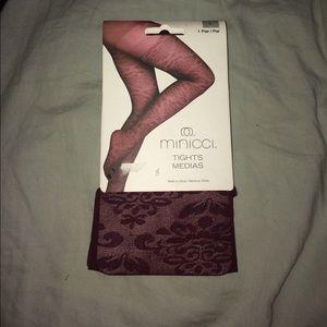 Maroon tights