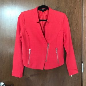 Mossimo Coral Jacket Zipper Detail