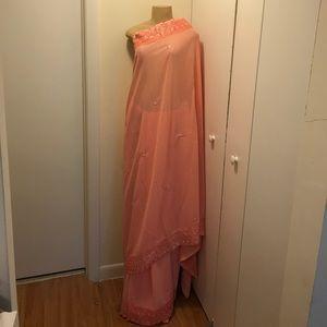 Dresses & Skirts - Pink Designer Indian Saree