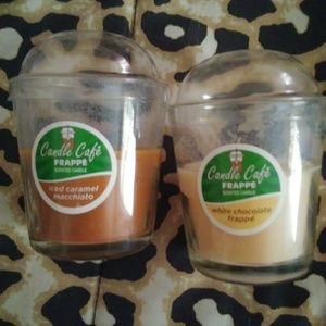 Lot of 2 coffee scented candles