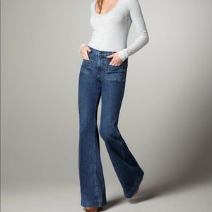 J Brand Blue Bette Mystery High Rise Flares - 26