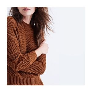 Madewell open knit cotton sweater