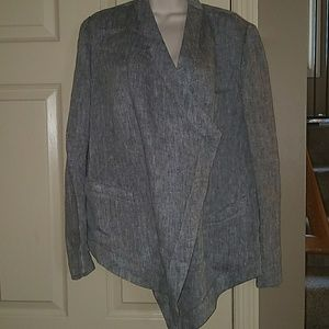 Coldwater Creek S 6-8 100% Linen blazer