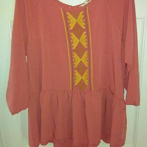 Easel Orange blouse new!