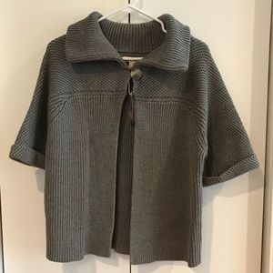 Bass & Co grey crop sweater capelet