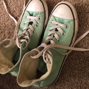 Teal All Star Converse High Tops