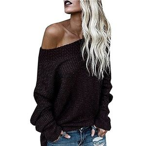 Sweaters - Oversized Slouchy Sweater, Color is Claret