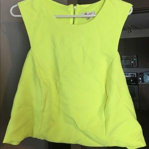 Plus size Neon yellow crop top