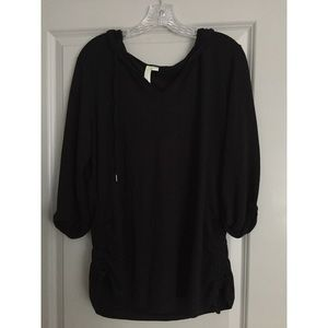 Black quarter sleeve shirt