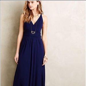NWT Anthropologie Maeve maxi Dress Pockets Blue 2