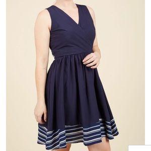 Modcloth Navy Blue Dress