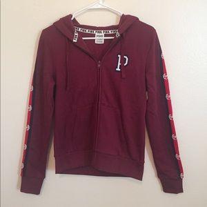 NWOT Pink Victoria's burgundy hoodie