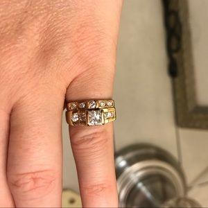 Jewelry - 14 carat gold princess cut diamond wedding set
