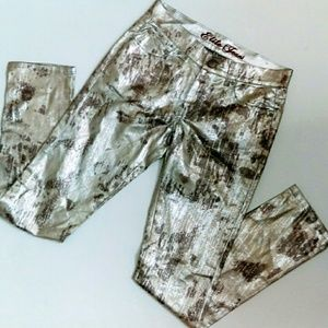 Elite Jeans Jeans - Camouflage Metallic Skinny Jeans NWOT
