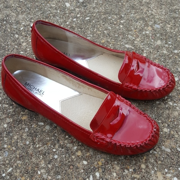 Michael Kors Winsor Patent Red Loafers