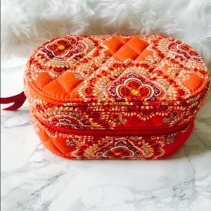 Orange Vera Bradley Jewelry Case