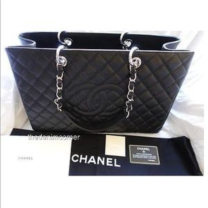 Chanel Grand Shopping Tote XL caviar leather