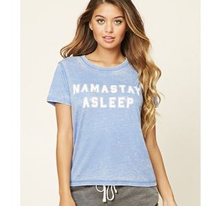 Namastay Asleep Graphic PJ Top