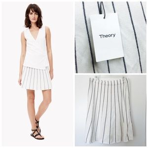 Theory Lotamee Striped Knit A-Line Skirt