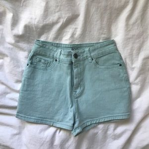 Urban Outfitters Mint Blue High Waisted BDG Shorts